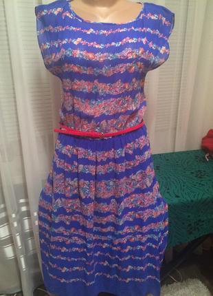 Красивое летнее платье-миди.