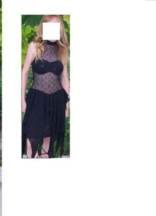 Платье черное вечернее короткое