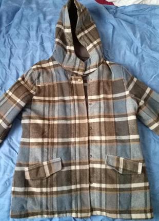 Куртка-пальто в клітинку