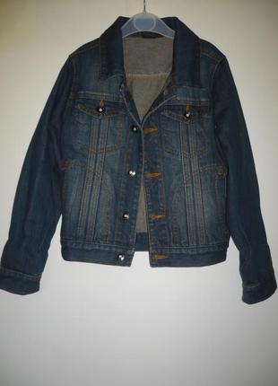 Пиджак джинсовый на мальчика 8 лет