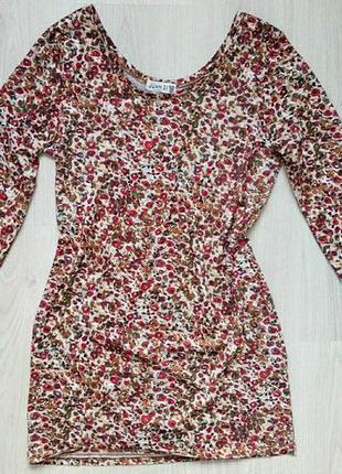 4cb2441a9f6 Коллекционная кофта туника с цветочным принтом