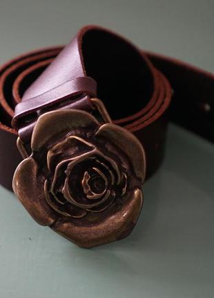 Пояс с розой