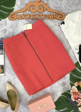 Эффектная юбка с накладными карманами papaya  ki180494  papaya
