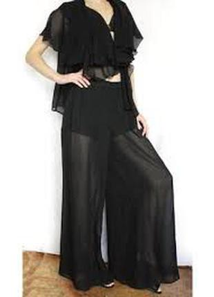Черные прозрачные юбка-брюки river island