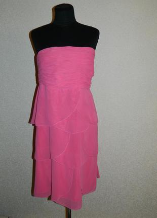 Платье розовое бюстье без бретелек р. 50-52 teatro