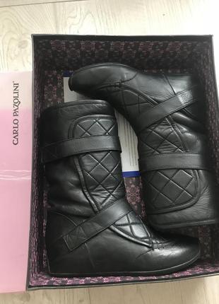Зимние кожаные сапоги дутики уги ботинки р36