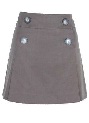 Короткая коричневая юбка