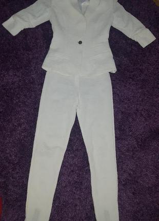 Білий ажурний костюм