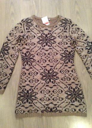 Вязаное платье размер м
