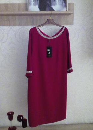 Распродажа дизайнерских платьев. красное нарядное платье, с украшением из камней