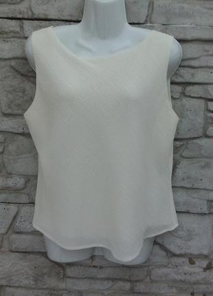 Распродажа!!! нарядная, шикарная блуза молочного цвета marks & spencer
