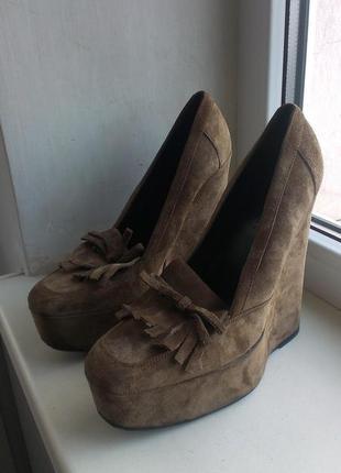 Замшевые туфли balenciaga