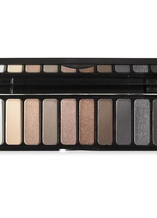 Палетка матовых и шиммерных теней everyday smoky eyeshadow palette elf набор