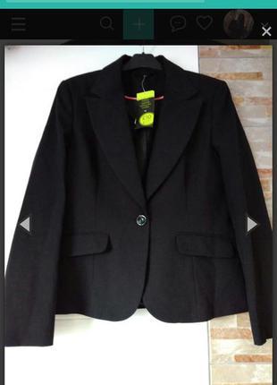 Пиджак черный f&f
