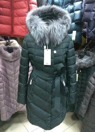 Зима 2018, пальто куртка lusskiri сммехом чернобурки l, xl, xxl