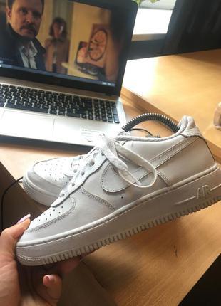 Nike air force кроссовки женские зимнее белые 38 найк