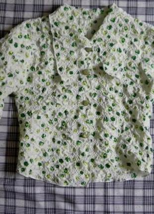 Блузка, ткань жатка,5-6 лет