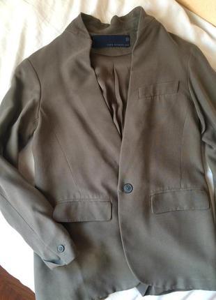 Льняной пиджак/жакет zara
