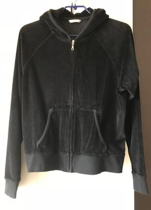 Велюровая толстовка куртка marks & spencer