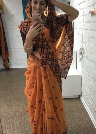 Сари, индийская одежда, индийское платье, одежда индии, длинное платье, платье в пол