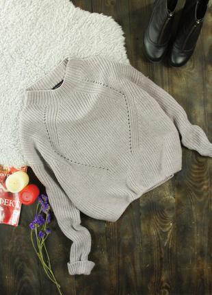 Пыльно-кремовый свитер с горлышком atmosphere