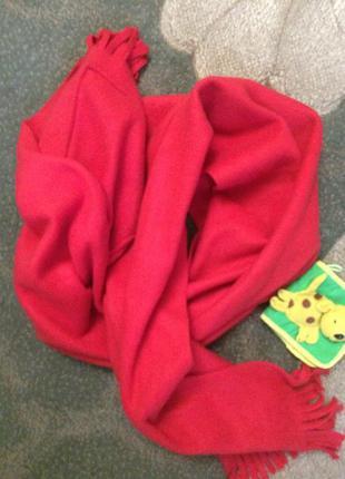 Теплый шарф с карманами napa с бахромой