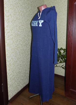 Домашнее платье-капюшонка в спортивном стиле (1835)3 фото