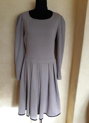 Трикотажное платье в складку