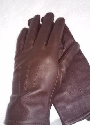 Кожаные перчатки marks&spencer