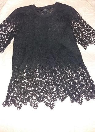 Шикарная кружевная блуза zara