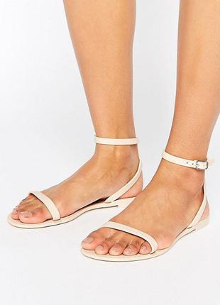 Все размеры | матовые нюдовые сандалии asos