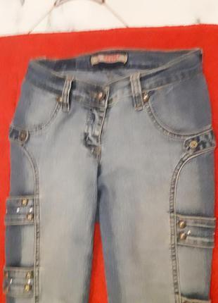 Джинсовые бриджи revolt jeans