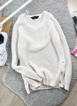Актулальный свитер со шнуровкой dorothy perkins