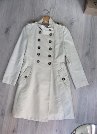 Пальто двубортное милитари стиль