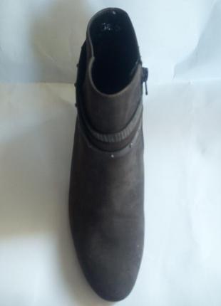 Ботинки кожаные(нубук) элегантные.австрия.,,gabor,,размер 38