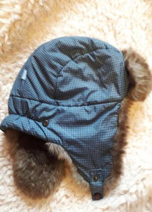 Детская шапочка-ушанка на мальчика 5 лет