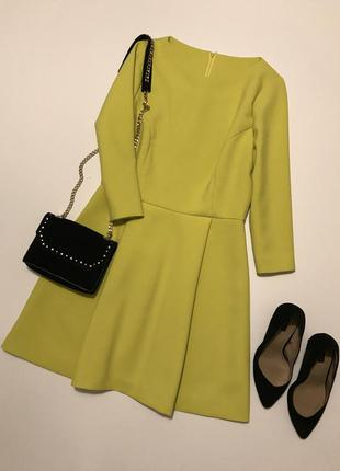 Очень стильное платье цвета лайм от karen millen