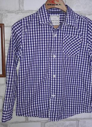 Zara рубашка 4-5 л 110 см