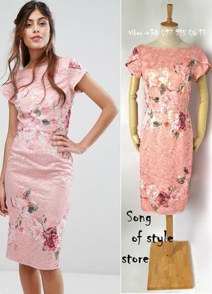 Little mistress  кружевное платье-футляр с цветочным принтом