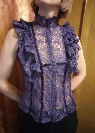 Блуза блузка гипюр asos