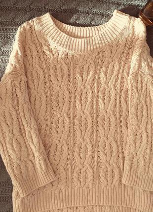 Оверсайз свитер крупной вязки