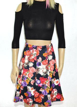 Цветочная юбка правильной длины
