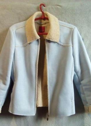 Замшевая куртка-дубленка на весну