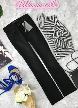 Черные, расклешенные джинсы zara  pn180522  zara