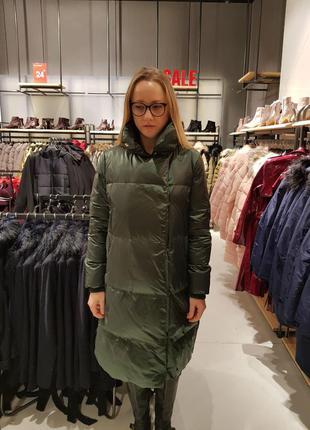 Натуральный пуховик пальто одеяло германия зеленый