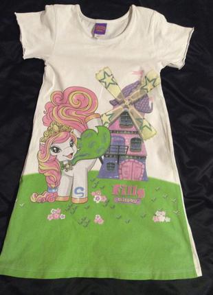 Хлопковое платье 5 - 7 лет
