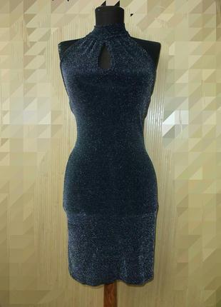 Вечернее чёрное платье с воротником по фигуреpourquoi paris