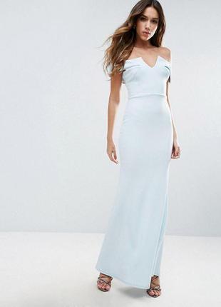 Небесное макси платье от asos