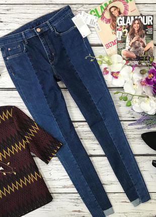 Трендовые джинсы комбинированный джинс лампасы пэчворк