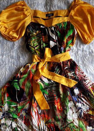 Яркое платье 100% шелк